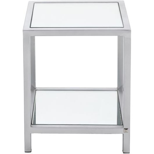 Picture of MIROSE side table 40x40 stainless steel/clear