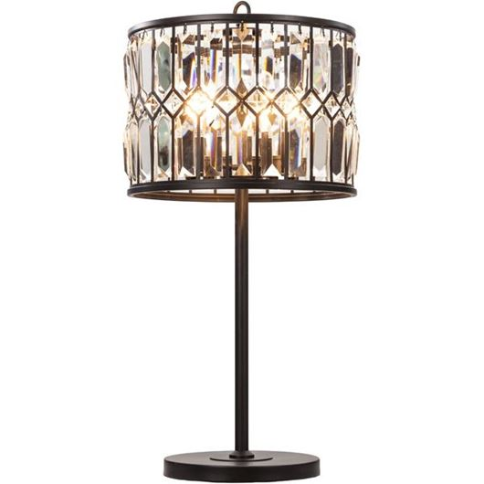 Picture of DELLA table lamp h70cm black/clear