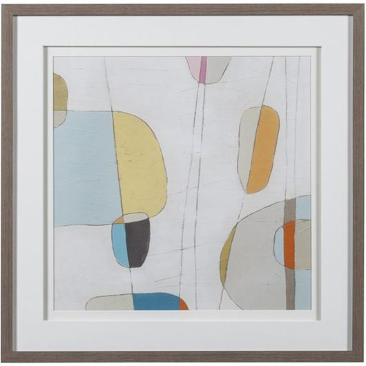 Picture of Framed Print Abstract I 63x63 grey