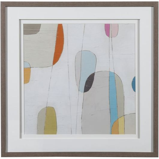 Picture of Framed Print Abstract II 63x63 grey