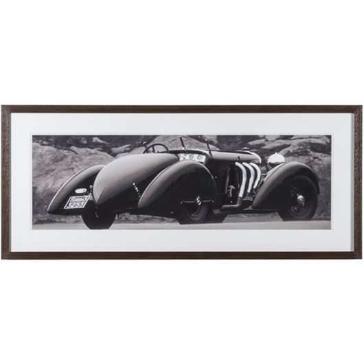 Picture of Framed Print 1930 Roadster 114x49 brown