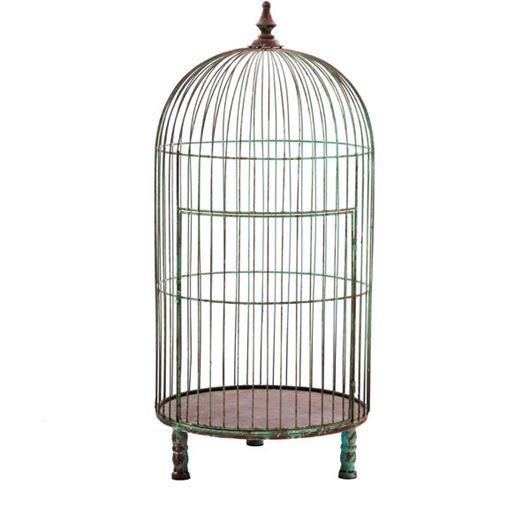 Picture of RON bird cage decoration h91cm rust