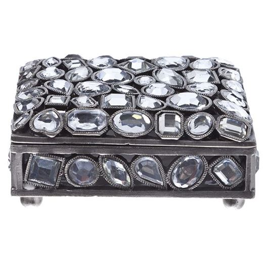 Picture of HAN trinket box 9x7 silver