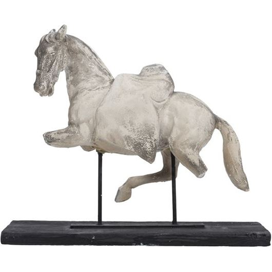 Picture of HORSE on stand h77cm grey