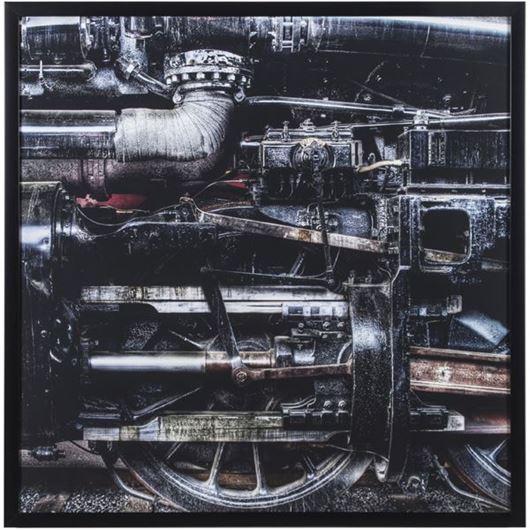 Picture of Framed Print Train II 100x100 black