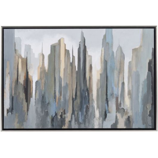 Picture of Framed Print Midtown Skyline 94x64 gold