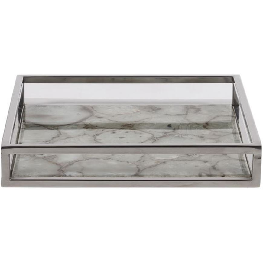 Picture of CELYN tray 30x30 white/silver