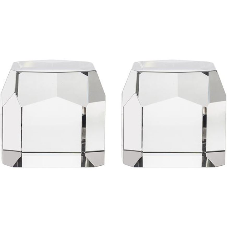 Picture of RUAAN bookends h12cm set of 2 clear