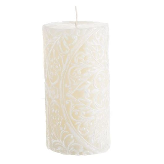 Picture of FLOSSY pillar candle 8x15 cream