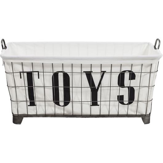 Picture of TOYS basket 45x88 black and white