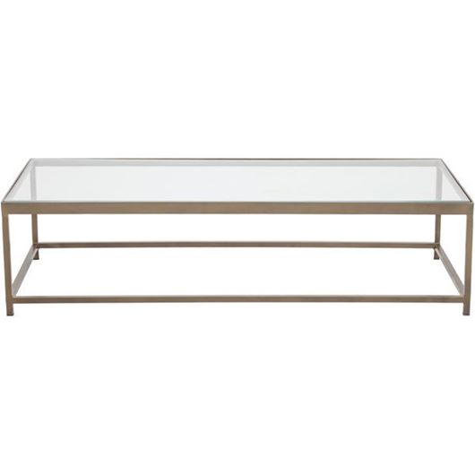 VEENAS coffee table 147x61 brass/clear