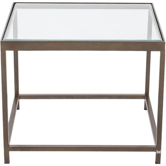 Picture of VEENAS side table 56x64 brass/clear