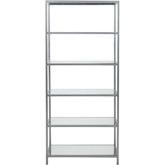 Picture of MIROSE bookcase 180x80 stainless steel/clear