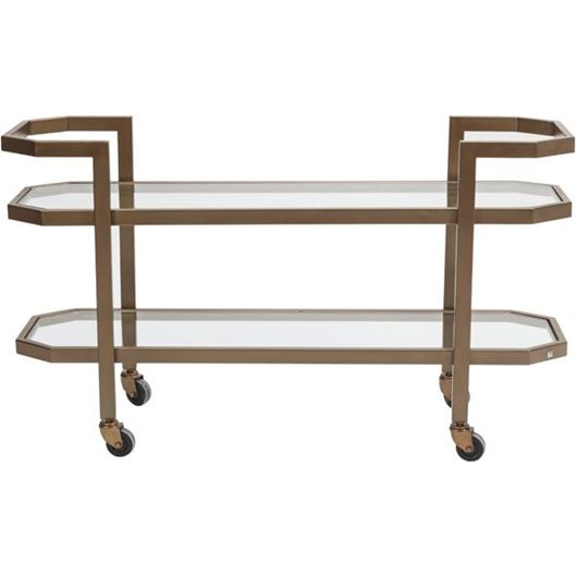 Picture of MARK trolley 140x46 clear/gold