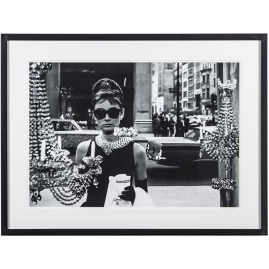 Picture of Framed Print Audrey Hepburn II 81x61black