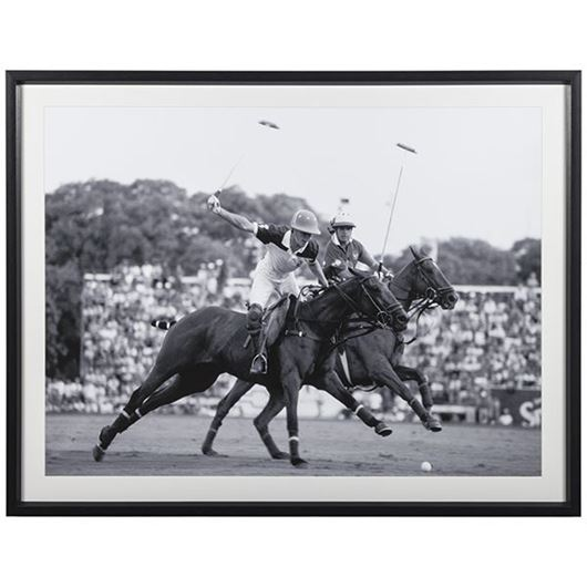 Picture of Framed Print Polo 138x108 black