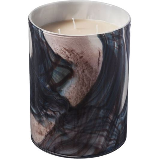 Picture of ECCENTRA candle h20cm brown