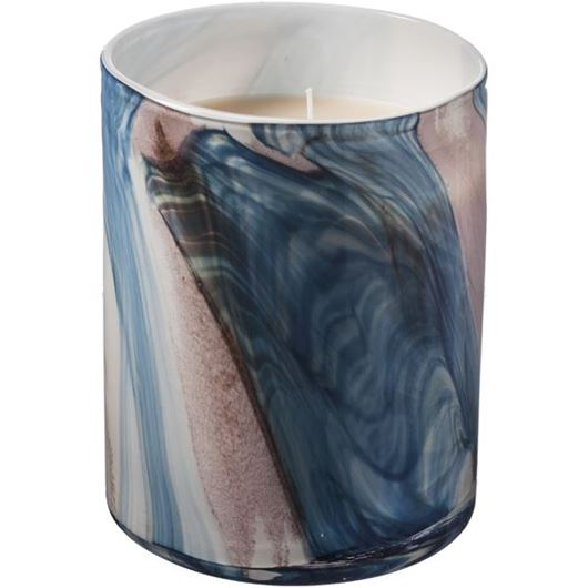 Picture of ECCENTRA candle h20cm blue