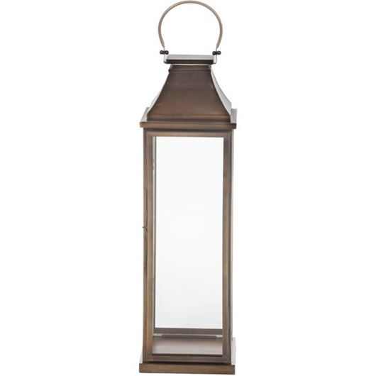 Picture of THEODORE lantern h86cm brass