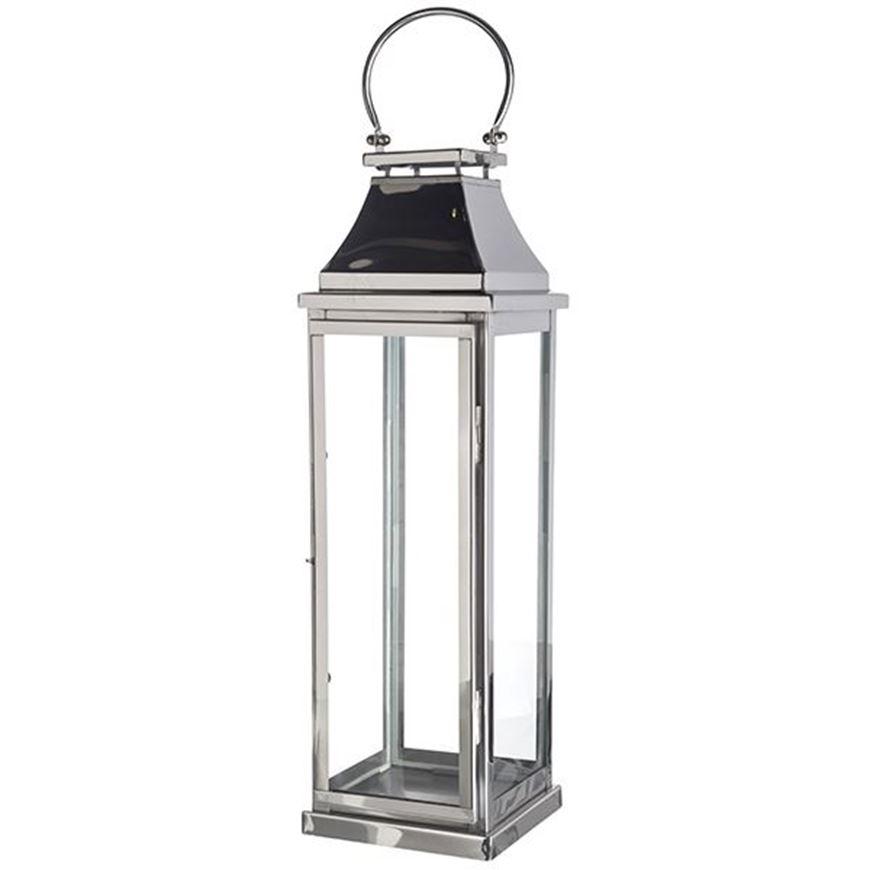 Picture of TOBIAS lantern h74cm nickel