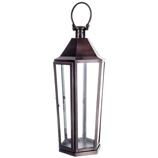 Picture of HENDRY lantern h71cm bronze