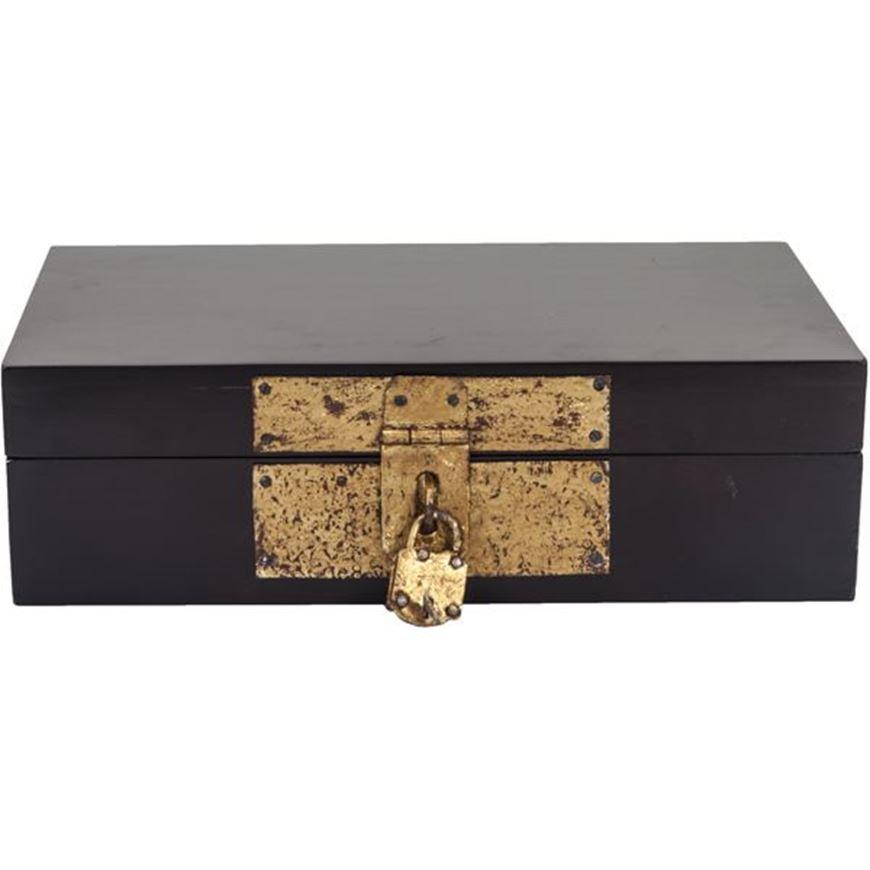 AKILAH box 20x34 black/gold