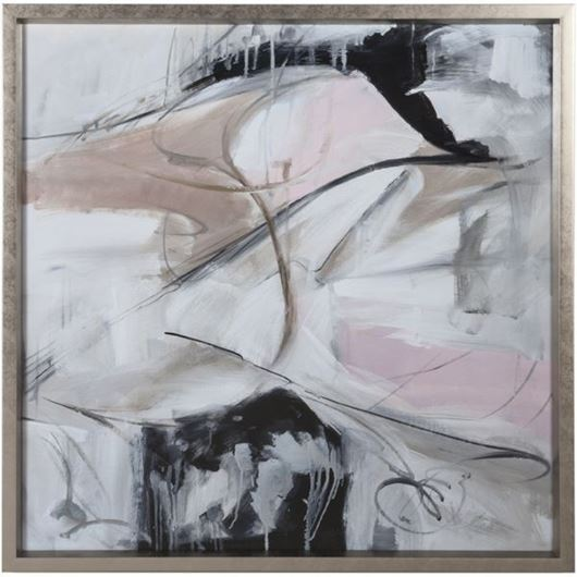 Picture of Framed Print Abstract in Pink II 96x96 silver