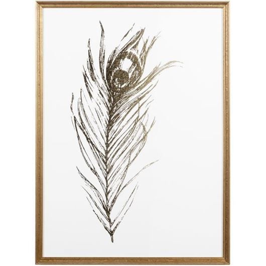 Framed Print Gold Foil Feather I 58x79 gold