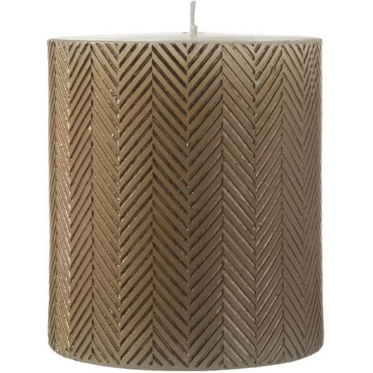 Picture of DIAGON pillar candle 10x12 gold