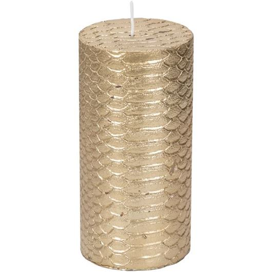 Picture of SHAGREEN pillar candle 8x15 gold