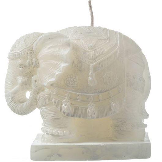 ELEPHANT candle h9cm cream