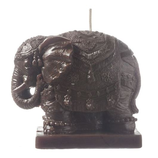 Picture of ELEPHANT candle h9cm brown