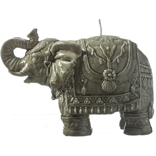 Picture of ELEPHANT candle h16cm green