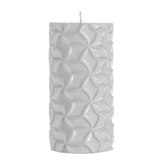 Picture of GEOMET pillar candle 8x16 white