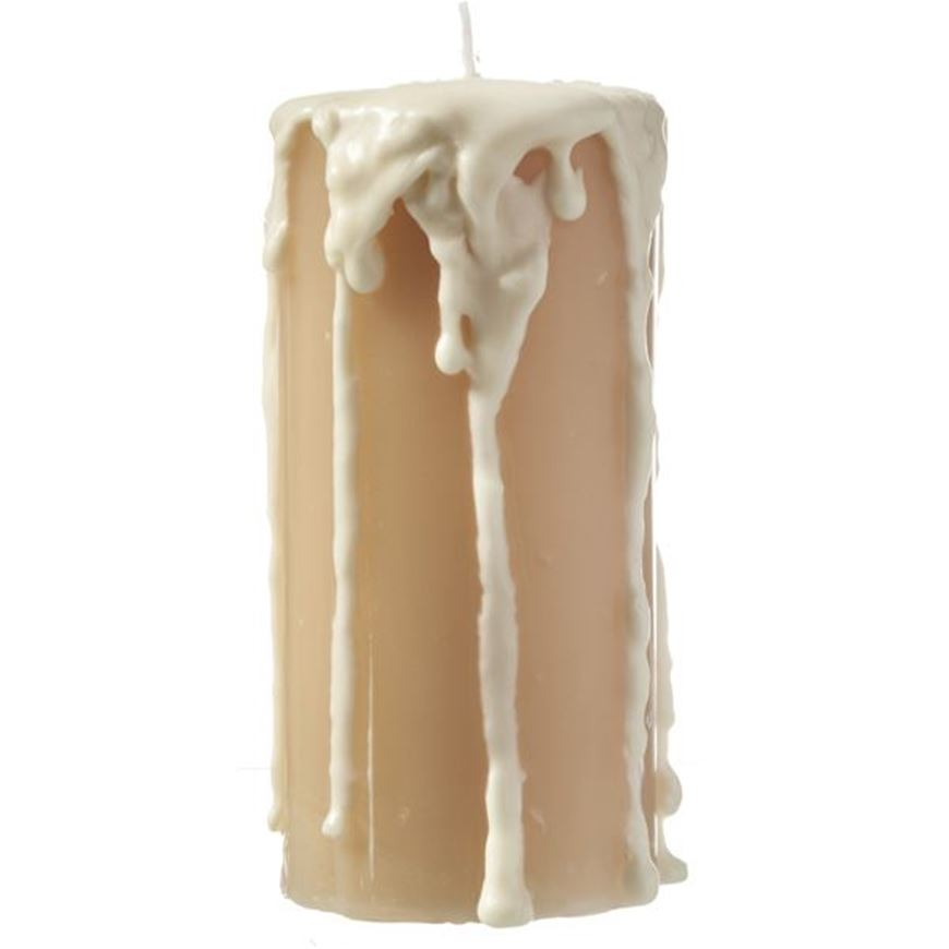 Picture of FROTH pillar candle 10x17 cream