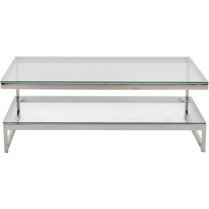 Picture of JEFF coffee table 130x70 clear/nickel