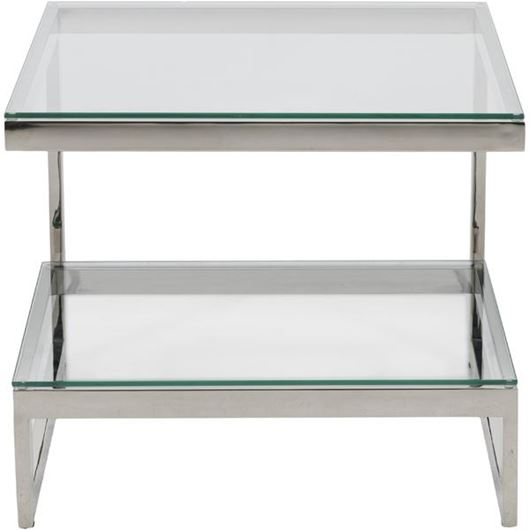 Picture of JEFF side table 65x65 clear/nickel