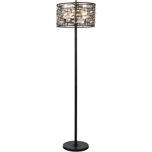 Picture of MACYN floor lamp h170cm clear/black