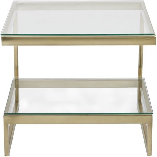 Picture of JEFF side table 65x65 clear/gold