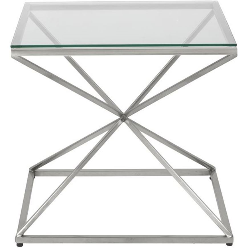 Picture of KOON side table 65x65 clear/nickel