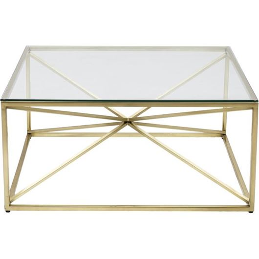 Picture of KOON coffee table 100x100 clear/gold