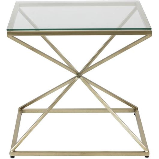 Picture of KOON side table 65x65 clear/gold