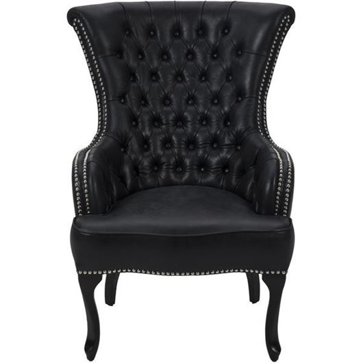 Picture of TERIA armchair leather black