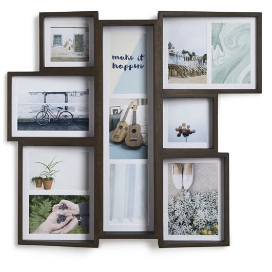 Picture of EDGE multi photo frame 11 brown