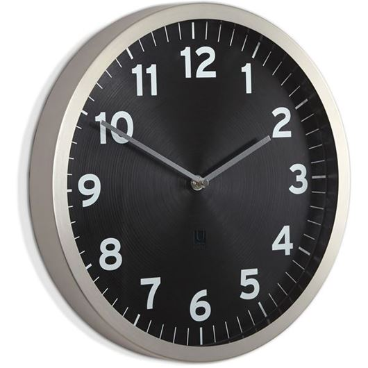 Picture of ANYTIME clock d30cm black