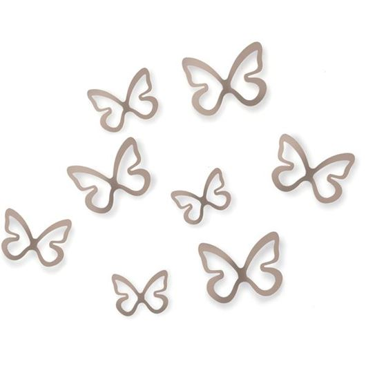 Picture of FLITTERBYE wall decoration set of 8 grey