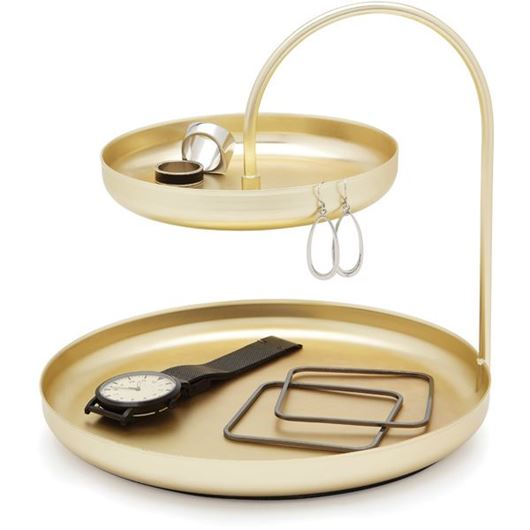 Picture of POISE jewellery tray brass