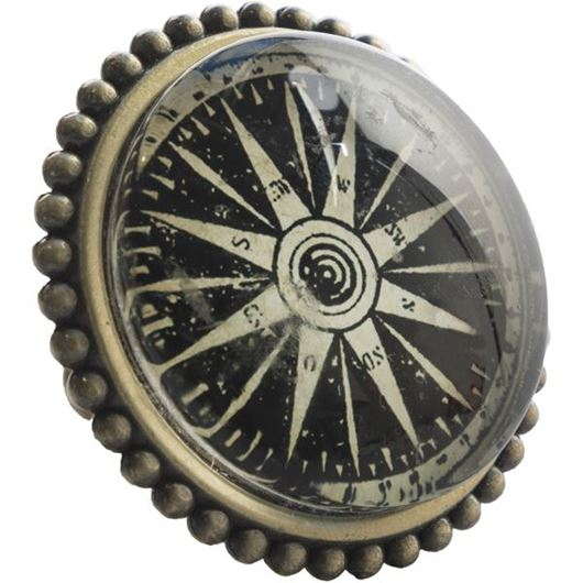 Picture of COMPASS knob d5cm black/gold
