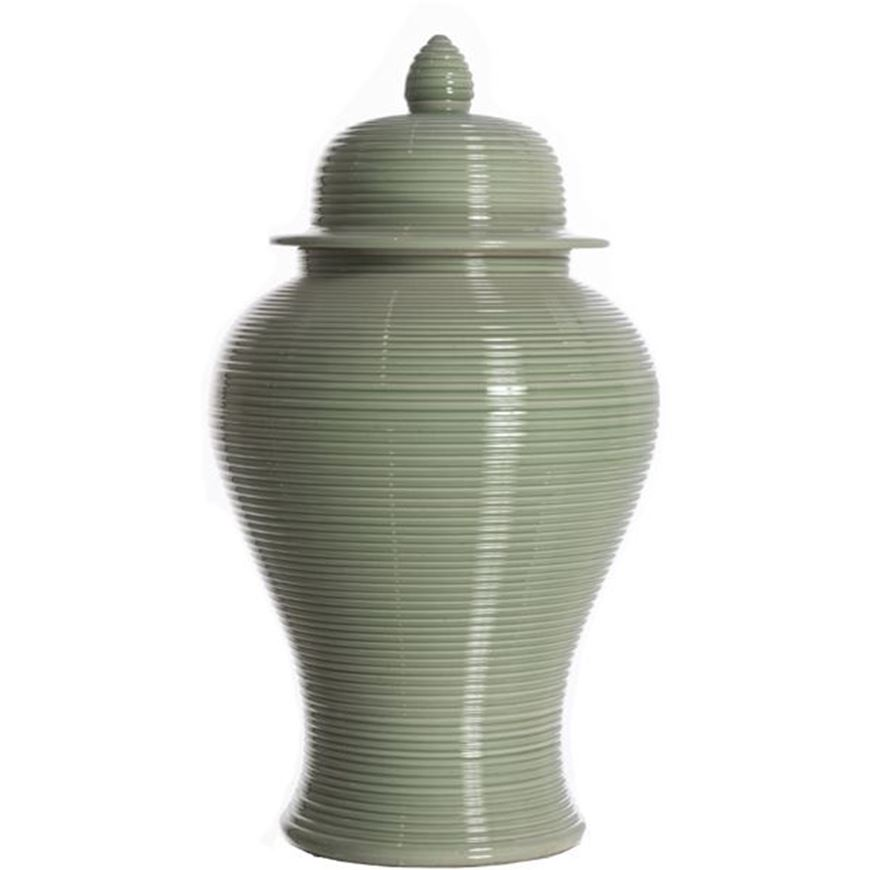 Picture of HILDA jar with lid h50cm green