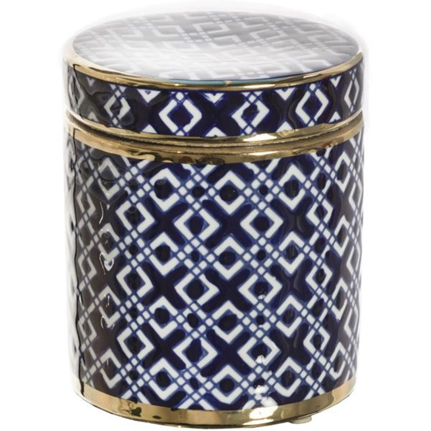 Picture of ODILIA jar with lid h14cm blue